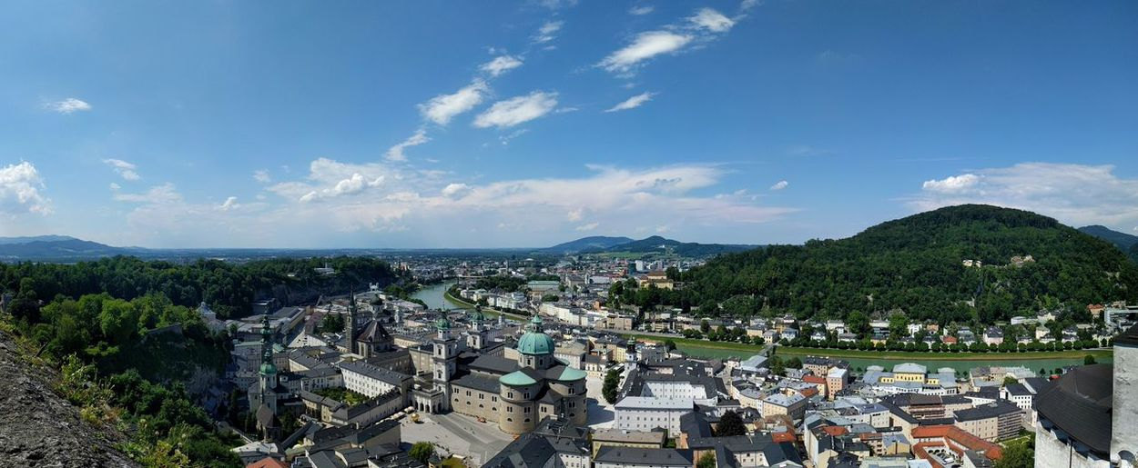 Salzburg Panorama Salzburg Salzburg Panorama Salzburg, Austria Austria Panorama City Cityscape High Angle View Sky Architecture Cloud - Sky Town TOWNSCAPE Old Town