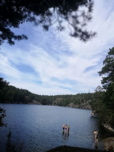Hot day in Sweden, Nacka. Lake View Lakeview Swimming Time Beauty In Nature Leisure Activity Hot Day Nacka Sweden