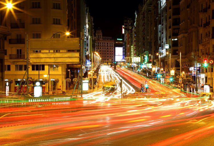 City street at night