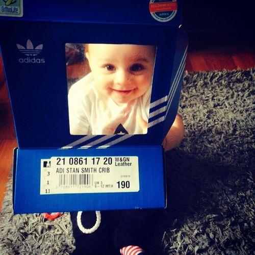 Tremayne in a box ❤️ Babydassler Adidaskids Adidasorginals AdidasStanSmith Stansmith