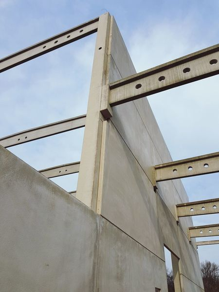 concrete construction Concrete Construction Construction Site Engineering Beton Spannbetonbinder Spannbeton Stahlbeton Industrial Engineering Built Structure Architecture Building Exterior City Outdoors