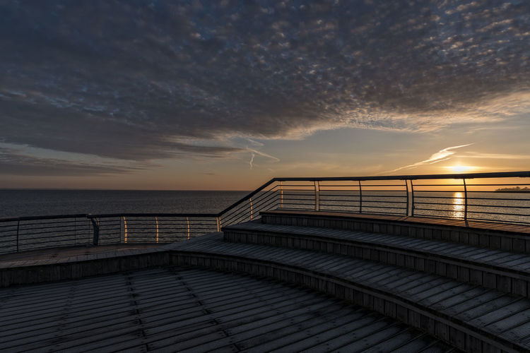 sunrise April Balticsea Nikon Stairs Steps Architecture Beach Beauty In Nature Built Structure Cloud - Sky Earlymorning  Horizon Horizon Over Water Land Nature Nikonphotography No People Outdoors Railing Scenics - Nature Sea Seabridge Sky Sunrise Tranquil Scene Tranquility Water Wood - Material Woodplanks