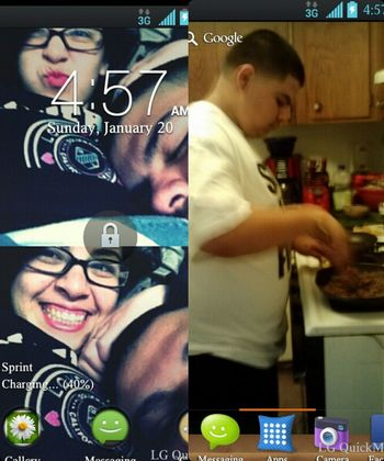 my lock scree and my wallpaper from my phone they're cute
