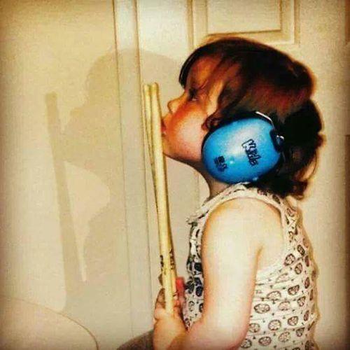 Rock Star Rock Star Life Little Girl Music Kids Drummer Girl Drums Drumsticks Music Musician Music Is Life