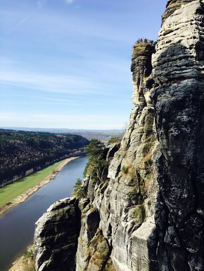 Landscape Rock Valley Stones Stone Formation Epic Steep River Panorama Elbe River Elbe View From Above Panoramic Photography Panoramic View Rock Formation Nature Photography Scenic Monumental  Spring Scenery Autum Nature River View Huge Stone Mountain