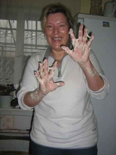 Adult Human Hand Indoors  Making Bread Portrait Real People Traditional Live Modern Workplace Culture