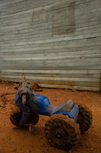 Dirty Tricycle On Mud