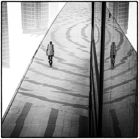 Reflection Architecture Reflection Roof Shanghai Architecture Building Exterior Built Structure City Day Full Length Men Monochrome Outdoors People Person Real People Rotated Upside Down Walking