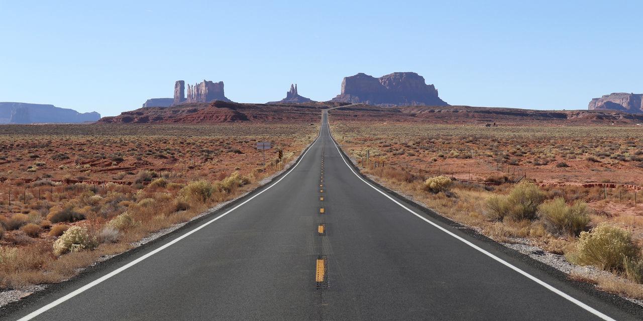 Monument Valley. Desert Monument Valley Utah Highway Landscape Road Scenics Southwest