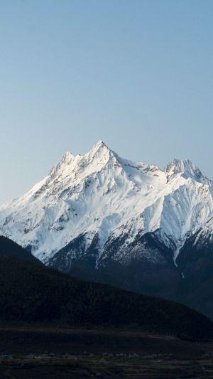 雪山 Tibet China Snow Cold Temperature Winter Snowcapped Mountain Power In Nature Polar Climate Sky