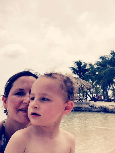 My wife and oldest son together on a idilyc beach. Holiday Relaxing First Eyeem Photo