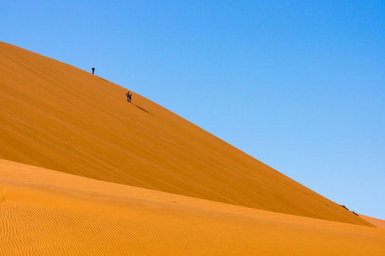 Blue Sky Dunes Landscape Sand Dune Sunlight
