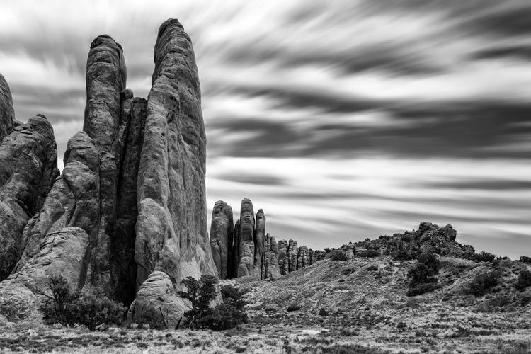 Insignificance of man Arches National Park, Utah Landscape_Collection Utah Day Dramatic Landscape Moutains Nature No People Outdoors Sky