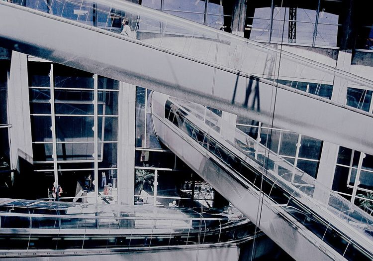 Futuristic Terminal Crossing Up And Down Up And Away Architecture Architecture_collection Architectural Detail Diagonal Lines Structure Glass Steel Transportation Transparent Envision The Future Feel The Journey Airport-series Arc+ The Graphic City