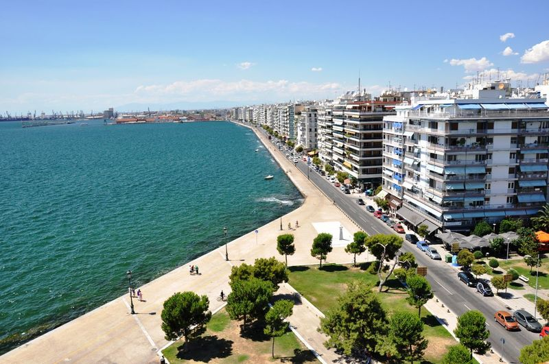 Thessaloniki view from the tower Architecture Building Exterior Built Structure City Cityscape Day Nature No People Outdoors Sea Sky Town Water