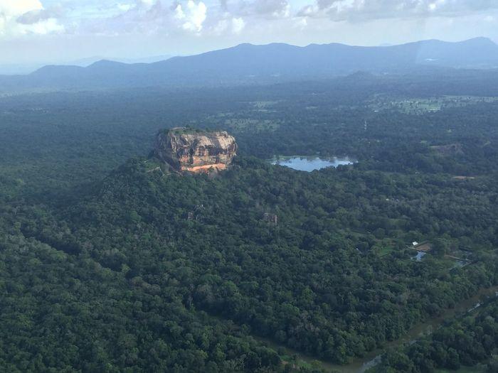 Aerial View Beauty In Nature Day Idyllic Landscape Mountain Mountain Range Nature No People Outdoors Scenics Sigiriya Sigiriya Rock Sky Sri Lanka Sri Lanka Travel Tranquil Scene Tranquility Travel Destinations