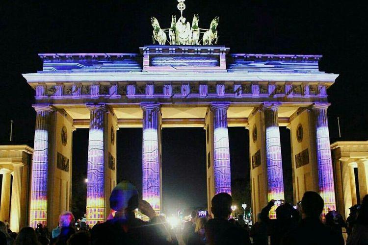 Festival of lights 2015. Berlin Lights Amazing View Brandenburger Tor Festivaloflights