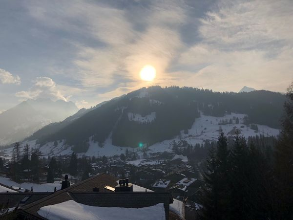 Glowing sun Sunshine Sun Glow Sunglow I❤️Gstaad Bolonie Art Bolonie Style Bolonie Mountain Winter Snow Town Landscape Holiday Sky No People Sunset Nature Outdoors City Range