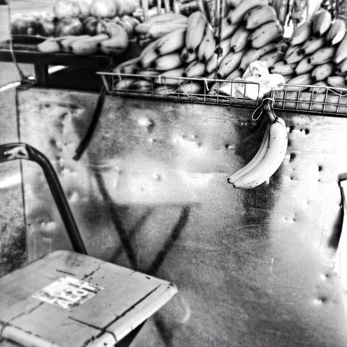 Hanging on for life Black And White Photography Fruit Banana