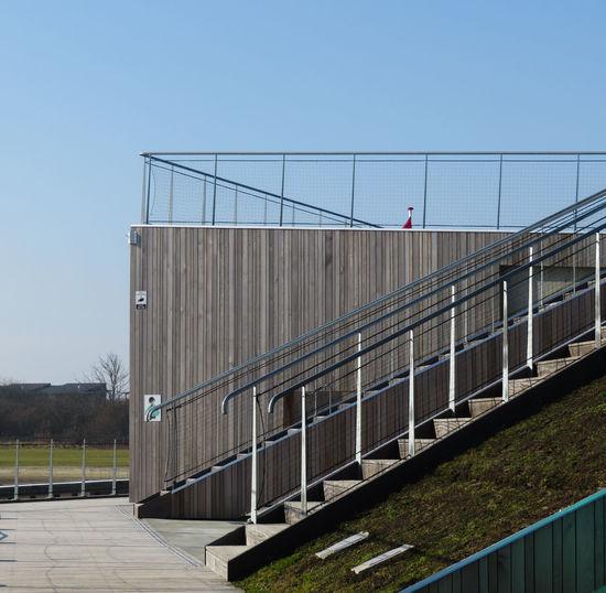 Stairs Lines Geometric Shape Railing Sky 17.62° My Best Photo