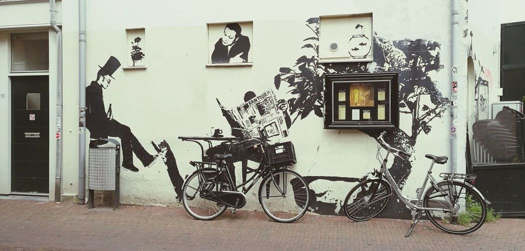 Holland Bicycle Built Structure Building Exterior No People Outdoors Day Wall Wall Art Wallart