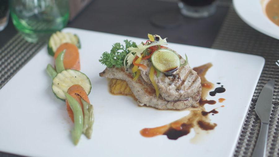 tuna at Maldives EyeEm Selects Appetizer Close-up Food And Drink Sashimi  Tuna Seafood Soy Sauce Fish Market Sushi Served Prepared Food Pesto Sauce