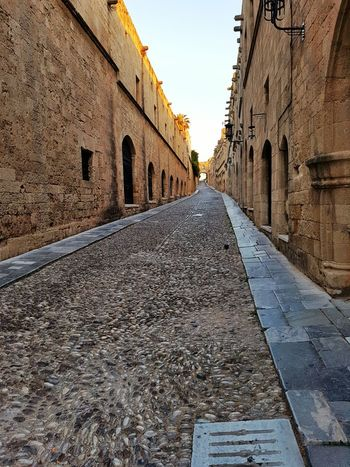 No People Rhodos, Greece  Idyllic Scenery Blue Sky Rhodos Greece Rhodes Old City Rhodos Castle Middle Ages Morning Light Idyllic Empty Places Empty Streets