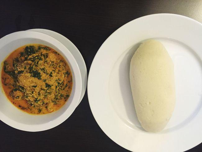 Show Us Your Takeaway! African Food Poundo Yam EgusiSoup Egusi Foodporn Nice Feeling