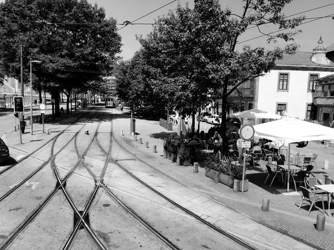 The tram in Porto Tram Old-fashioned Old Town Oldschool Transportation Portugal Portugies