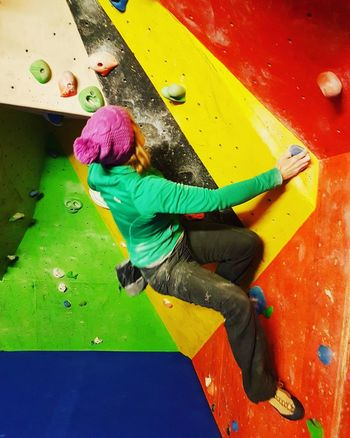 Bouldering Wall Climbing Bouldering Climbing Wall Climbing Keepfit Active Lifestyle  Cool Attitude People Individuality Lifestyles One Person