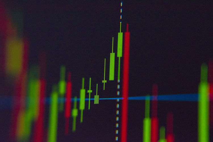 Stock chart Stock Chart Close-up Diagram Graph No People Business Indoors  Selective Focus Technology Green Color Data Multi Colored Growth Number Focus On Foreground Nature Finance Red Chart In A Row Pulse Trace