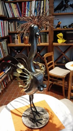 Arts And Crafts Sculpture Beautifully Organized Bird Metal Metal Art Metal Sculpture Cutlery Knives And Forks Spoon