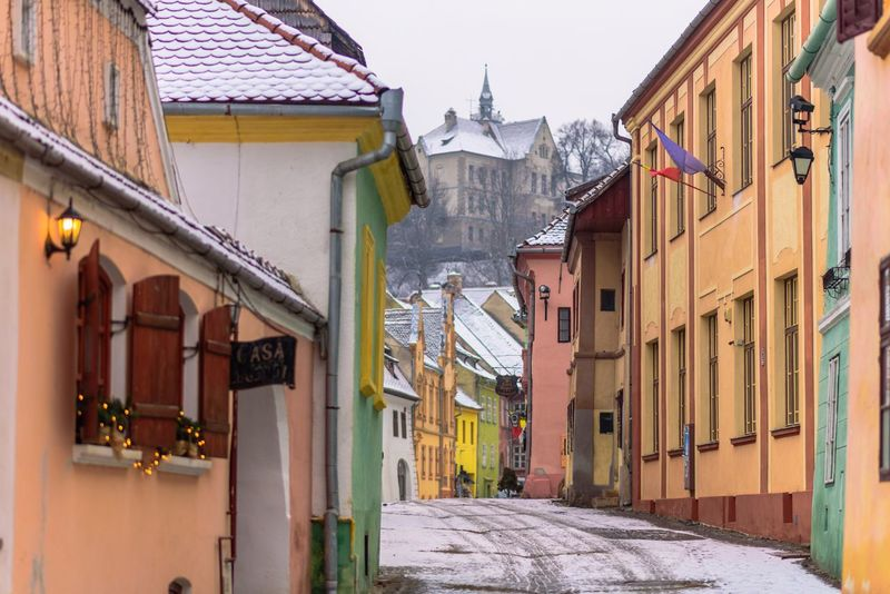 Streets of Sighisoara Streets Romania Transylvania Travel Destinations Sighisoara Sighisoara Medieval Building Exterior Architecture Built Structure House Residential Building Outdoors No People Day