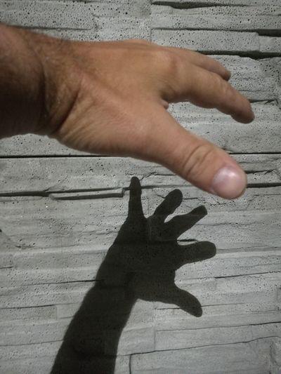 Human Hand Shadow Sand Beach Sunlight Men Close-up