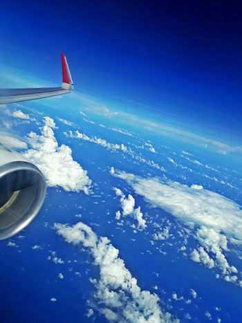 AirPlane ✈ EyeEmNewHere Above Airplane Beauty In Nature Blue Cloud - Sky Flying Journey on the move Outdoors Scenics - Nature Sky Transportation Travel