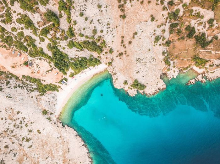 Baška, Croatia - Drone Shot #5 Water Sea Scenics - Nature Land Turquoise Colored Aerial View High Angle View Nature Beauty In Nature Beach Tranquil Scene Day Tranquility Idyllic Coastline Outdoors No People Travel Destinations Rock - Object Bay Drone  Dronephotography Drone Photography Croatia Croatia ♡