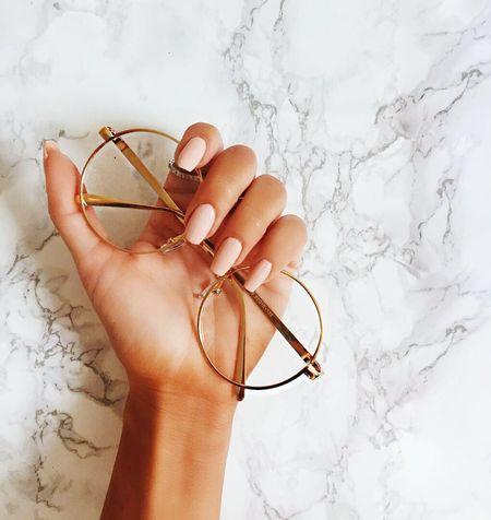 очки маникюр  мрамор