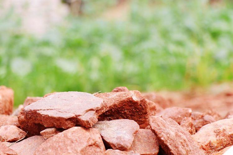 Close-up of rocks on rock