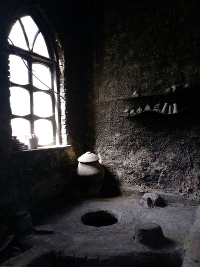 The burning room of a ceramics workshop, somehwere between Bukhara and Khiva. Arts And Crafts Atmosphere Central Asia Earth Khiva Uzbek People Uzbekistan Workshop Architecture Burning Room Ceramics Indoors  Light And Shadow No People Window