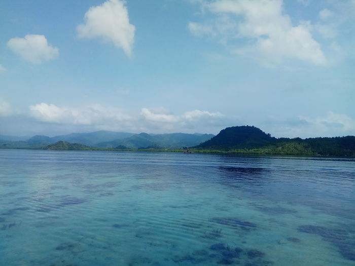Beach Sea Water Outdoors Nature Scenics Cloud - Sky No People Beauty In Nature Blue Beach Sky Day Mountain Landscape pahawang Lampung Indonesia Xiaomi Xiaomi Note 4