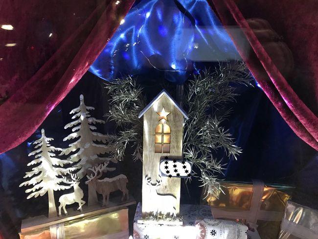 Escaparates Illuminated Night Celebration Christmas Decoration Christmas Decoration