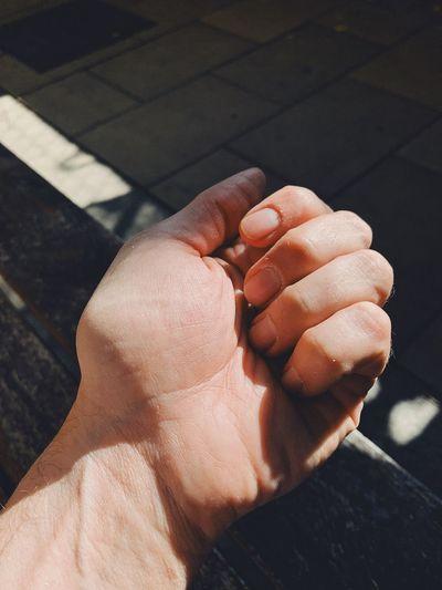 At hand. Human