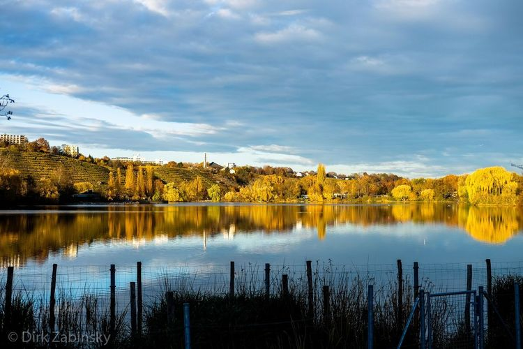 Autumn at the lake Reflection Sky Water Lake Cloud - Sky Tree Nature Plant Beauty In Nature No People Outdoors Day Landscape