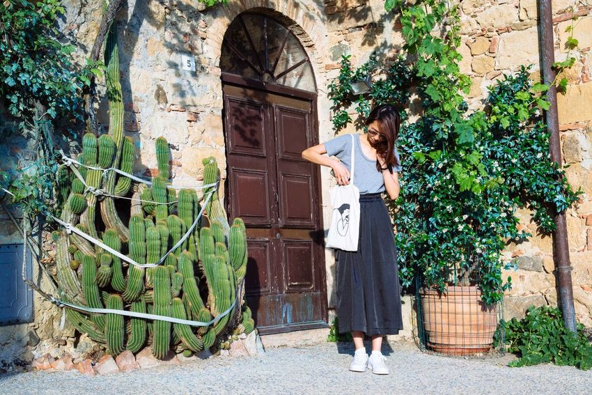 Beutiful Place  Calm Casual Clothing Door Hills Italy Landscape Medioeval Peaceful Plants Scenary Stone House Summer Summertime Sunny Day Toscana Tourism Tourist Tourists Tranquility Travelling Tuscany Tuscany Countryside Village Young Women