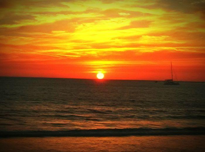 Beachphotography On The Beach Beach At The Beach Sunset_collection Sunset #sun #clouds #skylovers #sky #nature #beautifulinnature #naturalbeauty #photography #landscape