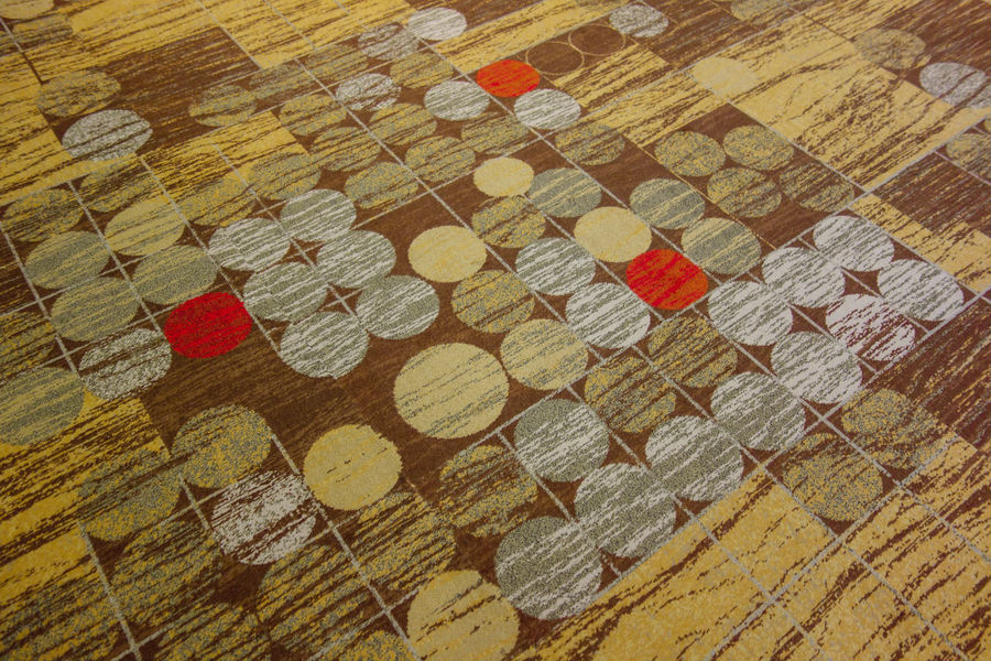 Beidge Carpet Carpet Design Circle Art Circles Circulate Colorful Floor Ground High Angle View Look Down Multi Colored No People Order Pattern Patterns & Textures Red Repetition Revolve Singapore Textured  Variation Yellow