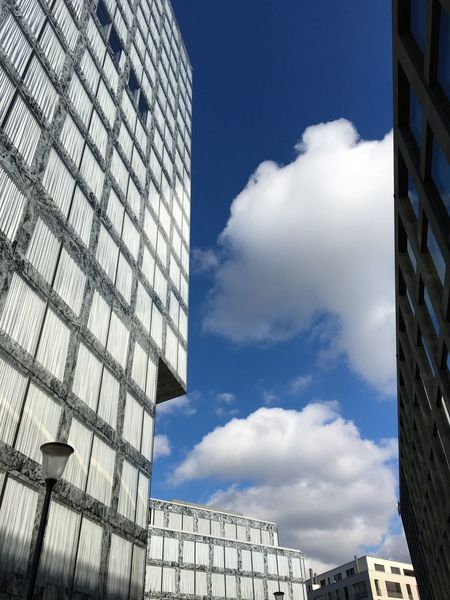 Architecture Blue Sky Clouds And Sky Clouds Windows Blue White Glatt