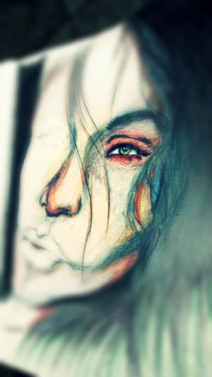 filtered version of my latest work. enjoy. Art Color Portrait MistAke_Arts Check This Out