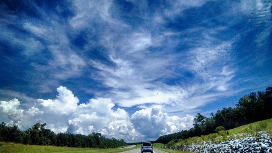 Georgia sky Open Road Cloudscape Clouds Scenicview Bluesky Sunset #sun #clouds #skylovers #sky #nature #beautifulinnature #naturalbeauty #photography #landscape Colorfulsky Clouds And Sky Flowers, Nature And Beauty Georgia Cloud View Blue Sky And Clouds Tree Blue Field Sky Landscape Cloud - Sky Farmland Cultivated Land Vehicle