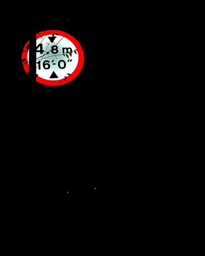 Road sign Sign Bridge Manmade Modern Contrast Copy Space Red Dark Night No People Clock Indoors  Black Background Time The Graphic City EyeEmNewHere